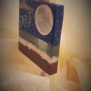 "BeaslePunk Art Original Accents - Dream Away - mini canvas art original 3"" x 3"""